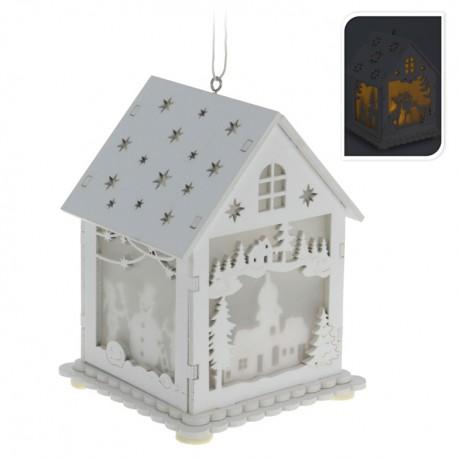 Drevený svietiaci domček - Kostol