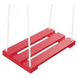 Detská drevená hojdačka - červená
