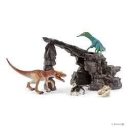 Schleich 41461 Dinosaurs Set jaskyňa s dinosaurami