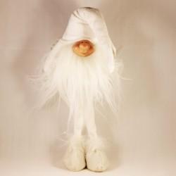 IMP-EX Vianočná dekorácia - škriatok stojaci - biely