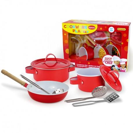 Detská kuchynská sada 8-dielna červená