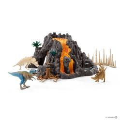 Schleich 42305 Dinosaurs Veľká sopka s T-Rexom