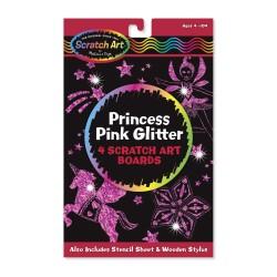 Melissa & Doug Škrabacie obrázky - Princess Pink Glitter