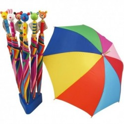 Detský dáždnik farebný - Mačička