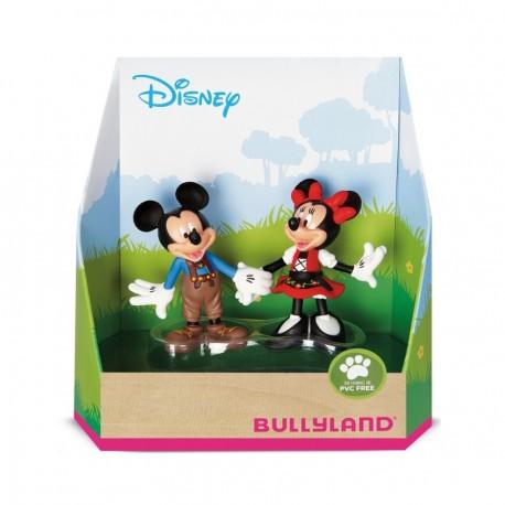 Bullyland Mickey Mouse & Friends - Mickey a Minnie v bavorskom kroji rozprávkové figúrky - 2-dielny set