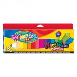 Colorino Kids farebná plastelína 18 farieb - Neon, Silver, Gold