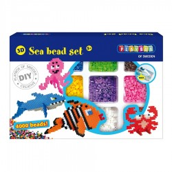 PLAYBOX Zažehľovacie korálky - set 4000 ks - Morské živočíchy