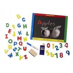 Melissa & Doug drevená obojstranná tabuľa na písanie a s magnetkami