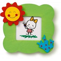 Detský drevený rámik na fotku - slniečko