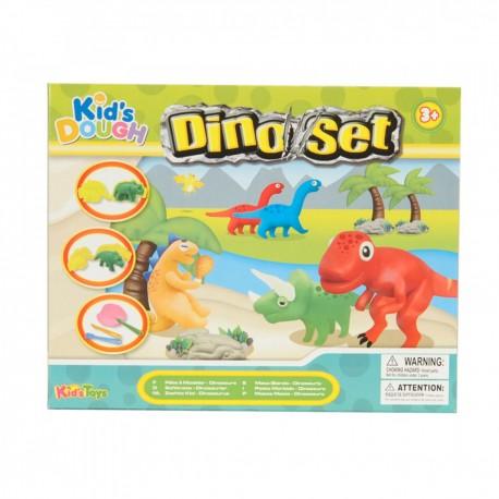 KID´S TOYS farebná plastelína set Dinosaurus