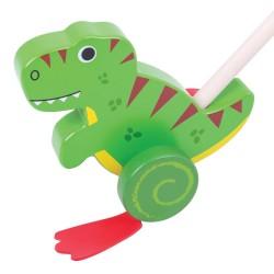 BIGJIGS Drevená hračka na tlačenie - T-Rex