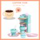 Mentari detský drevený kávovar s doplnkami