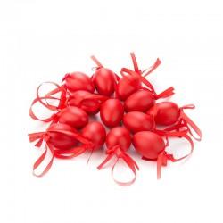 Veľkonočné vajíčka stredne-veľké 12 ks - červené