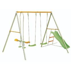TRIGANO Jardin Detská záhradná hojdačka Raphael - trojmiestna 2,2 m so šmýkačkou