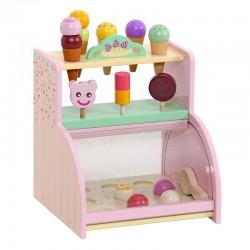 Mentari Drevený detský stánok so zmrzlinou a nanukmi