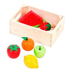 MENTARI Detská drevená prepravka s ovocím (dyňa)