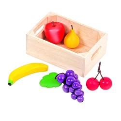 MENTARI Detská drevená prepravka s ovocím (hrozno)