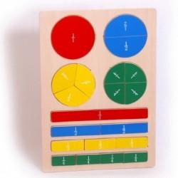 Legler Drevené didaktické puzzle - Zlomky