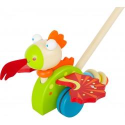 Legler Drevená hračka na tlačenie - Drak Merlin