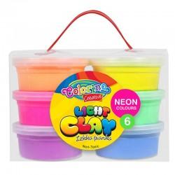 Colorino Kids farebná modelovacia hmota Light Clay - 6 farieb Neon