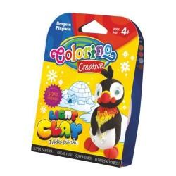 Colorino Kids farebná modelovacia hmota Light Clay ZOO - set na zhotovenie zvieratka - Pingvin