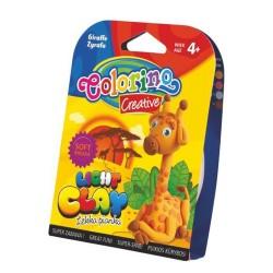 Colorino Kids farebná modelovacia hmota Light Clay ZOO - set na zhotovenie zvieratka - Žirafa