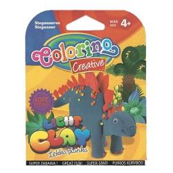 Colorino Kids farebná modelovacia hmota Light Clay Dino - set na zhotovenie zvieratka - Stegosaurus