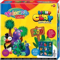 Colorino Kids farebná modelovacia hmota Light Clay ZOO - set na zhotovenie 9 zvieratiek