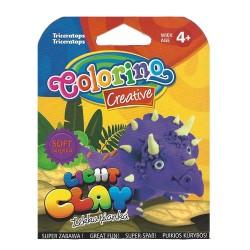 Colorino Kids farebná modelovacia hmota Light Clay Dino - set na zhotovenie zvieratka - Triceratops