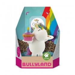 Bullyland Chubby jednorožec - s narodeninovou tortou rozprávková figúrka