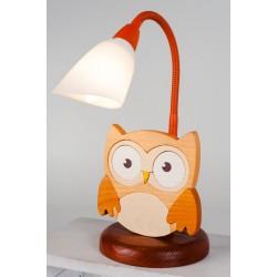Detská stolná lampa - sova hnedá