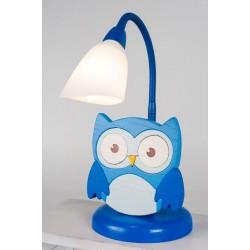 Detská stolná lampa - sova modrá