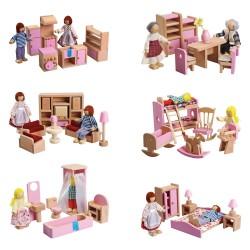 IMP-EX Nábytok do domčeka pre bábiky - 6 druhov
