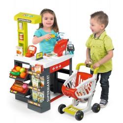 SMOBY Detský obchod Supermarket - červeno-zelený