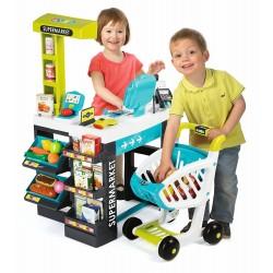 SMOBY Detský obchod Supermarket - tyrkysovo-zelený
