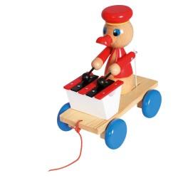 Woody Drevená hračka na ťahanie - Káčer s xylofónom