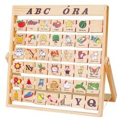 Fakopáncs Drevená hra - Učíme sa abecedu - maďarčina