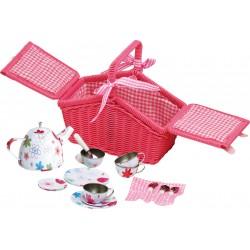 Legler Detská čajová súprava v piknikovom košíku 18-dielna