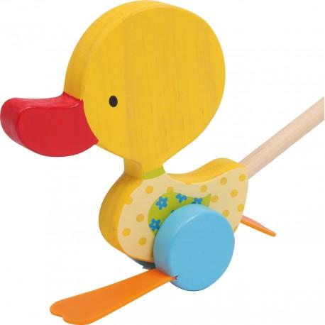 Legler Drevená hračka na tlačenie - Kačička Tine
