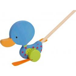 Legler Drevená hračka na tlačenie - Kačička Matheo