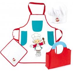 Detská 4-dielna sada oblečenia pre kuchárov Sandman
