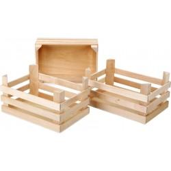 Legler drevené prepravky na potraviny - 3 kusy v balení
