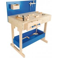 Legler Detský pracovný stôl z dreva s náradím