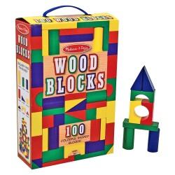 Melissa & Doug Drevené kocky 100 kusové - farebné