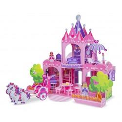 Melissa & Doug penové 3D puzzle skladačka 2v1 - Zámok a domček pre bábiky