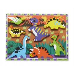 Melissa & Doug Drevené obrázkové puzzle s hrubými dielikmi - Dinosaury