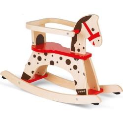 JANOD detský drevený hojdací koník s odnímateľnou ohrádkou