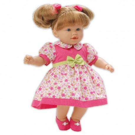 LOKO Bábika s vlasmi - 39 cm-ová v letných šatách