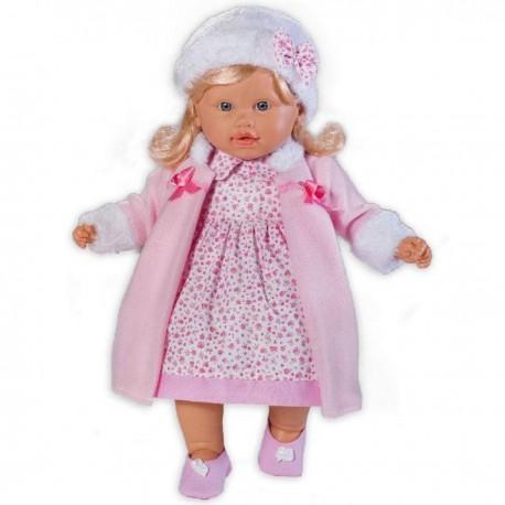 LOKO Bábika s vlasmi - 39 cm-ová v zimných šatách