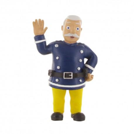 Comansi požiarnik Sam - Veliteľ Steele požiarnik v prilbe rozprávková figúrka